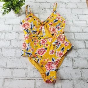 Primark Floral Print One-Piece Swimsuit Size 8